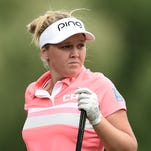 Brooke Henderson stumbles late, keeps Meijer LPGA lead in Round 2