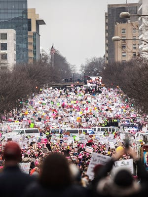 Thousands of people gather to participate in the Women's March on Washington, D.C Saturday, Jan. 21, 2017. Amanda J. Cain photo