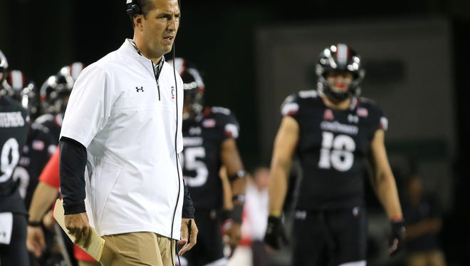 Cincinnati Bearcats head coach Luke Fickell admittedly is still learning on the job, with UC taking a 2-2 record into Saturday night's game against Marshall.
