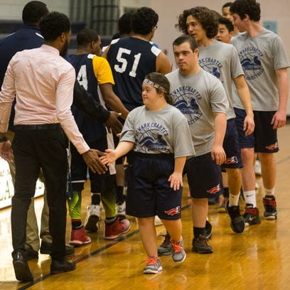 The Newark Charter and McKean High School Unified basketball
