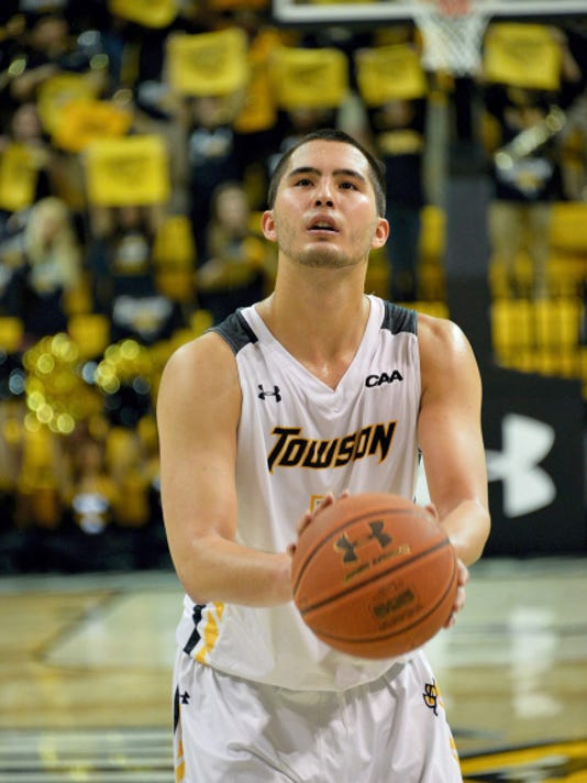 SUBMITTED Dallastown graduate Four McGlynn, who led Towson in scoring last season as a junior, is transferring to Rhode Island. He will join a team that finished 23-10 and advanced to the second round of the NIT.