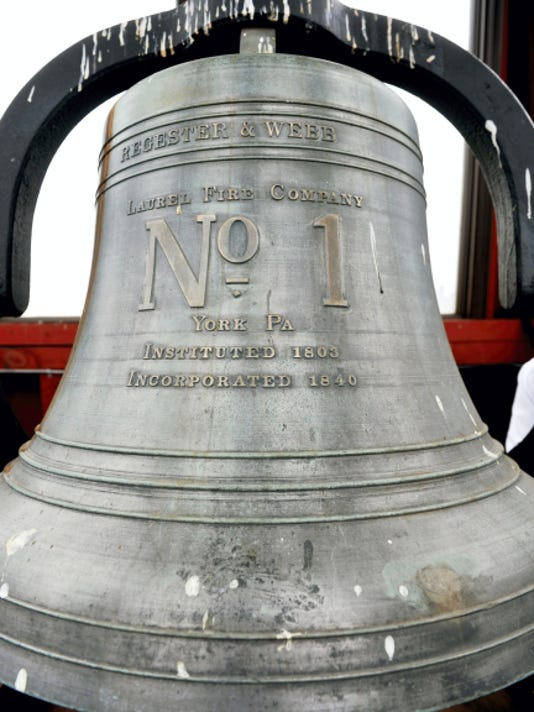 A closer look at York City Fire Station No. 1's bell.