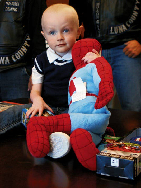 Eli Goedecke, 2, was diagnosed with lymphoblastic lymphoma in June. The type of blood cancer mainly affects children and teenagers.