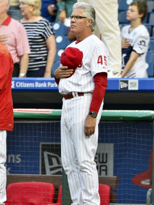 Pete Mackanin will manage the Philadelphia Phillies for the rest of the season. (AP Photo/Derik Hamilton)