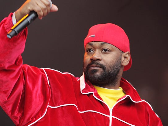 Rapper Ghostface Killah, pictured at the Glastonbury