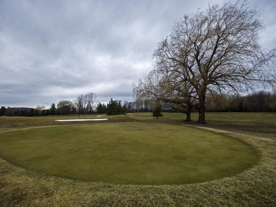 The Kwiniaska Golf Club in Shelburne is seen on Thursday. The part of the golf course on the western side of Spear Street is being considered for development as a residential community.