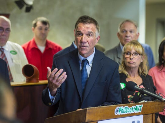 Republican gubernatorial candidate Lt. Gov. Phil Scott