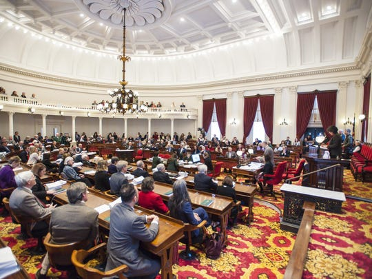 The House of Representatives convenes on the opening day of the legislature at the State House in Montpelier on Wednesday, January 3, 2018.