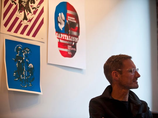 Michael Jager, co-founder of JDK Design and its smaller design studio spin-off Solidarity of Unbridled Labour, at the company's offices in Burlington.