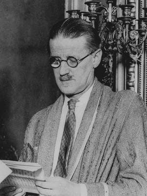 James Joyce, author of 'Ulysses,' shown in this undated file photo. An Irish filmmaker is bringing part of the novel to life as a virtual reality video game.