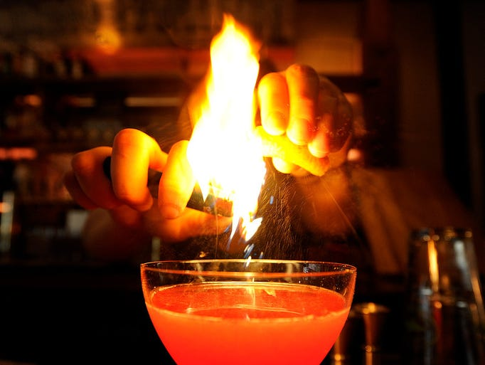 The Solar Flare, a specialty drink offered by Otto's,