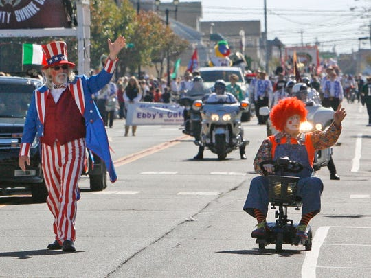 Uncle Sam was one of many who took part at the 24th annual Ocean County Columbus Day Parade in Seaside Heights October 11, 2015.