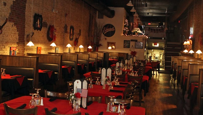 Edward's Steakhouse on Franklin Street prepares for a Mother's Day dinner.