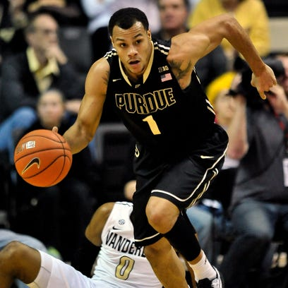 Purdue guard Bryson Scott (1) has been granted a release