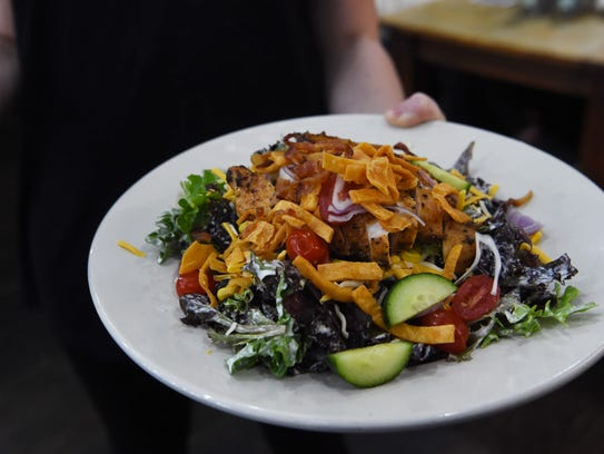 A southwest Cobb salad, served at Lola's Cafe in the