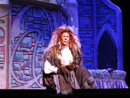 Joe Hager as the Beast in Shreveport Opera's production