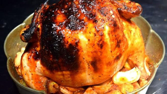Buffalo Bundt pan chicken