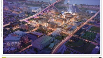 Looney Ricks Kiss architects produced this rendering showing a future vision of the Pinch district.