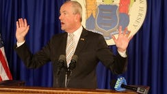 Governor Phil Murphy has a press conference on the