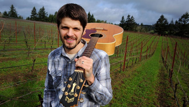 Musician Rich Swanger is also the assistant winemaker at St. Innocent Winery.