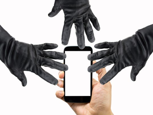 danger of data theft of the smartphone