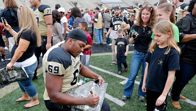 Vanderbilt's Black and Gold spring football game is moving to a Friday night for the first time.