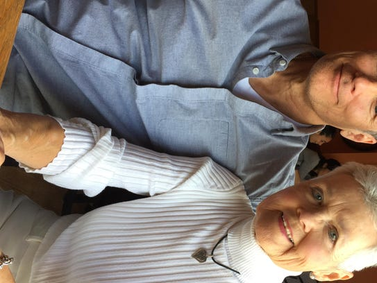 Jon Darsee and his mother during a recent visit in