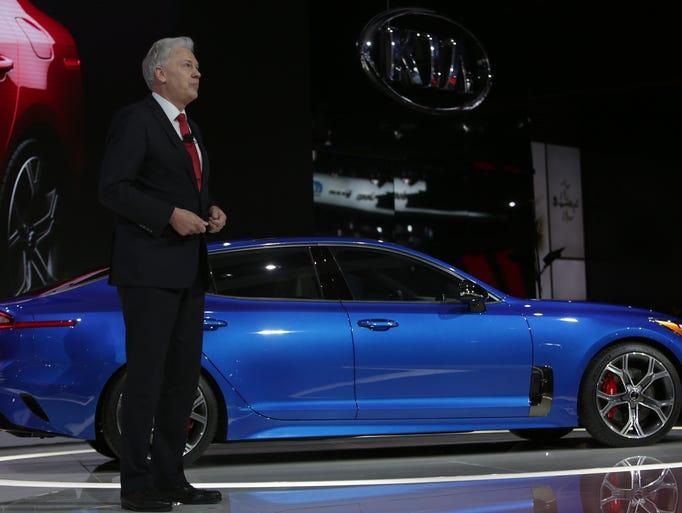 Kia Stinger Sedan unveiled at Detroit s Russell Industrial