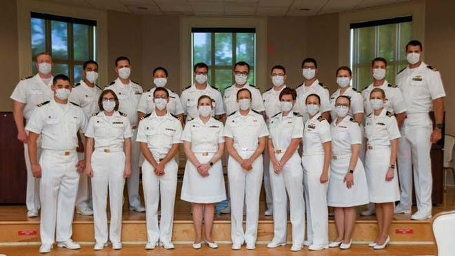 Camp Lejeune Family Medicine Residency Program recently graduated 20 residents and interns. The graduates will go on to their next duty station to continue practicing family medicine. The graduating residents received a 100% pass rate on their Family Medicine Certification Examinations given by the American Board of Family Medicine.