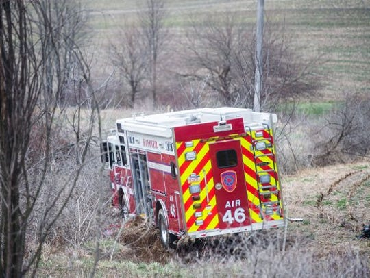 A Hanover rescue vehicle is stuck in a field near Pumping