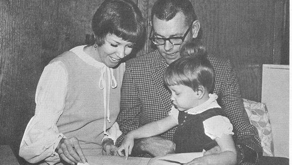 Rosalie and Don Bolles with their daughter, Diane.