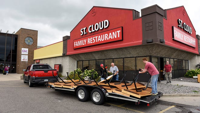 Remodeling is underway Thursday, Aug. 17, to divide the former Old Country Buffett space in Midtown Square into spaces for a second location of Kay's Kitchen and St. Cloud Floral.