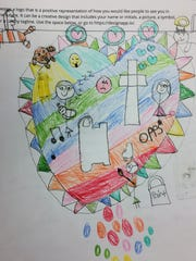 Bryson Middle School seventh-grader Julia MacKenzie drew this logo as part of a Junior Achievement personal branding exercise Feb. 13, 2018.