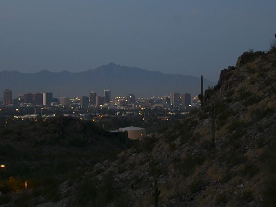 A view of Phoenix from up Piestewa Peak on Nov. 15,
