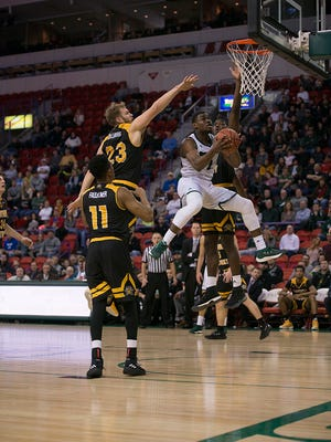 UWGB senior guard Khalil Small scored a game-high 17 points in a loss to NKU on Saturday.