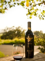 A bottle of wine from the Miner Family Winery.