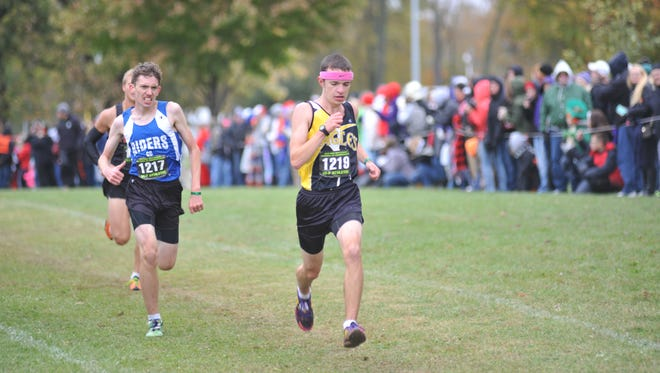 Wade Hopkins finished 27th which would've qualified him for state as an individual had the entire team not made it.