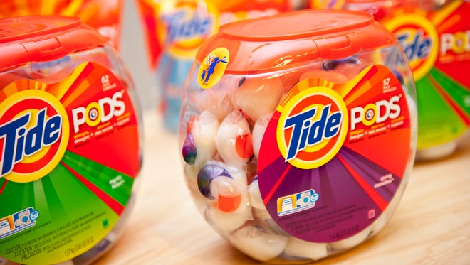 Teens are recording themselves in videos attempting to eat Tide Pods as part of a new online challenge.