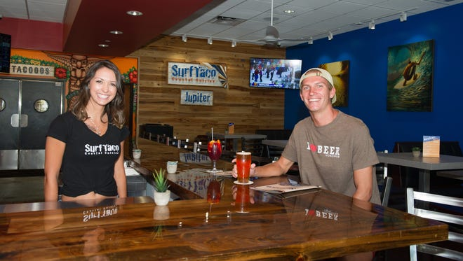 Surf Taco taps are dedicated to local craft beers from Twisted Trunk, Tequesta Brewing, Civil Society and Copperpointe Brewery