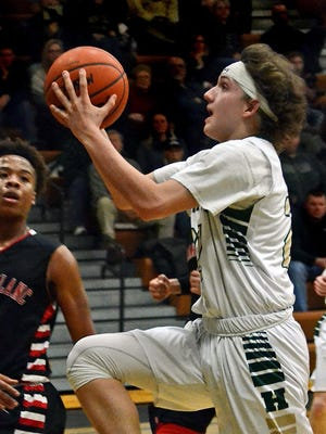 Howell's Josh Palo scored 18 points as the Highlanders knocked off Hartland with a 46-37 win in the district semifinals on Wednesday night.