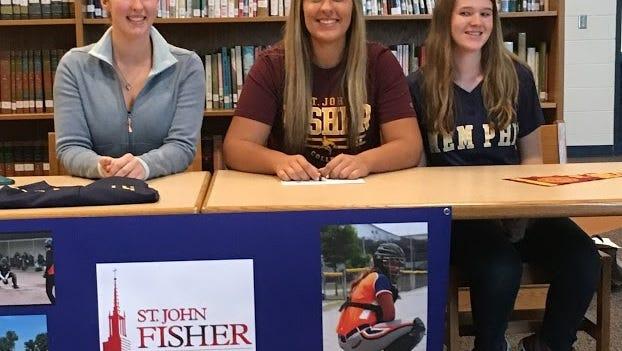 Memphis High School graduate Megan Kreger (middle) is headed to St. John Fisher College in N.Y.