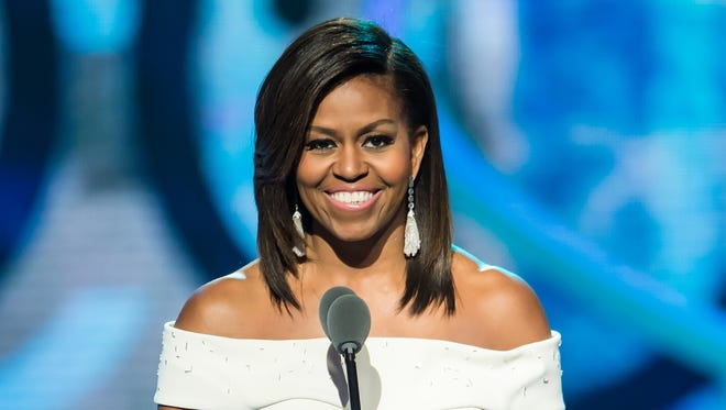 First lady Michelle Obama addresses the audience at the Black Girls Rock! BET special on March 28 in Newark.