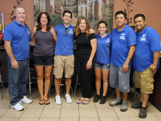 La Rosa Pizzeria and Restaurant owner Jimmy Keane and staff.