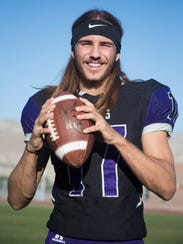 Shadow Hills senior JD Lang is a member of the 2017 First Team All-Desert Sun football team.