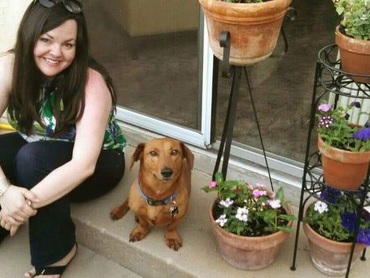 Kimbley Craig and her dog Hans
