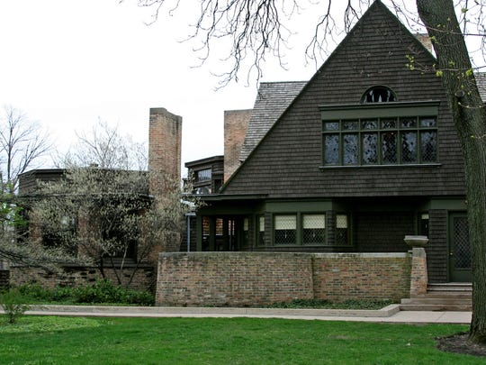 Frank Lloyd Wright's Home and Studio, representing an early part of his career, is open for tours in Oak Park, Illinois.