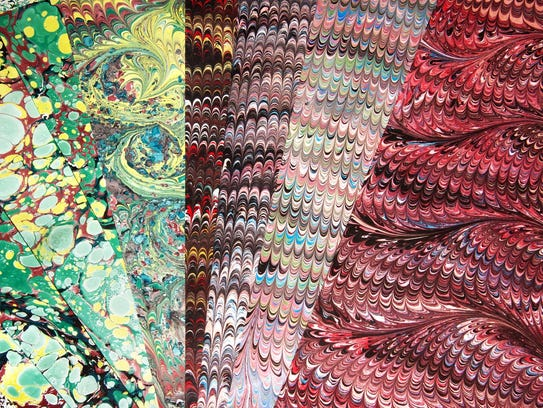 Marbled Silk Workshop is Saturday.