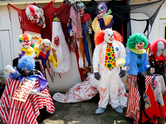 "Clowns made up a big part of the ""You're Next Haunted Attraction"" that is being canceled this year as Troy Garcia tries to figure out what to do since more than 500 people came by his home last year."