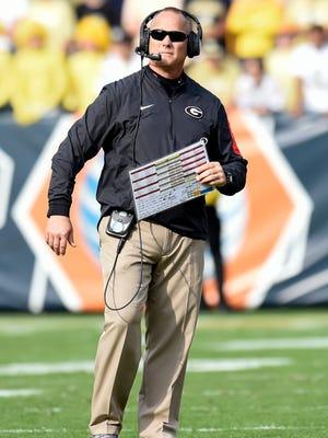 Georgia Bulldogs head coach Mark Richt.