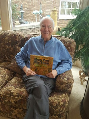 """Springfield author David L. Harrison's """"Now You See Them, Now You Don't"""" book of poetry has been recognized by the National Council of Teachers of English."""